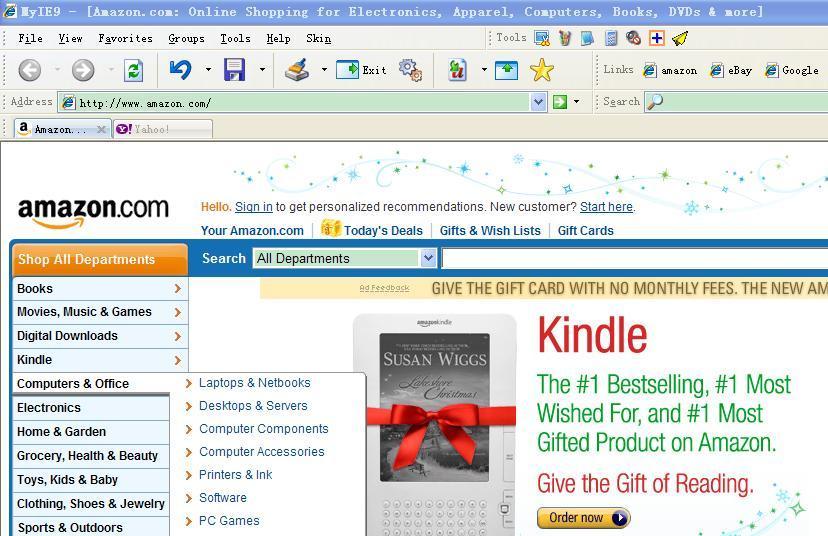 MyIE9 Browser full screenshot