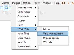 SynWrite中的插件菜单
