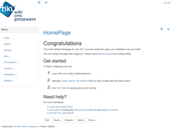 Tiki 18.x - 在管理员用户中登录的默认Bootstrap主题,启用了一些额外功能